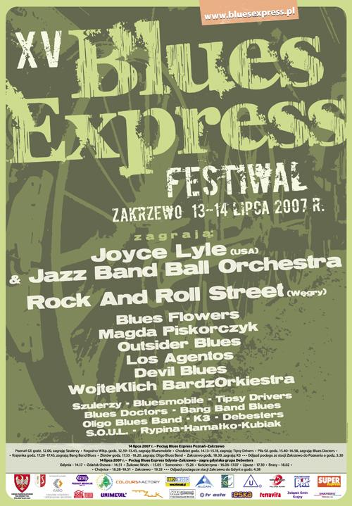 Oficjalny plakat Festiwalu Blues Express 2007