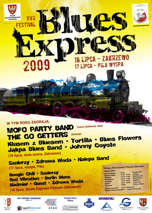 Oficjalny plakat Festiwalu Blues Express 2009