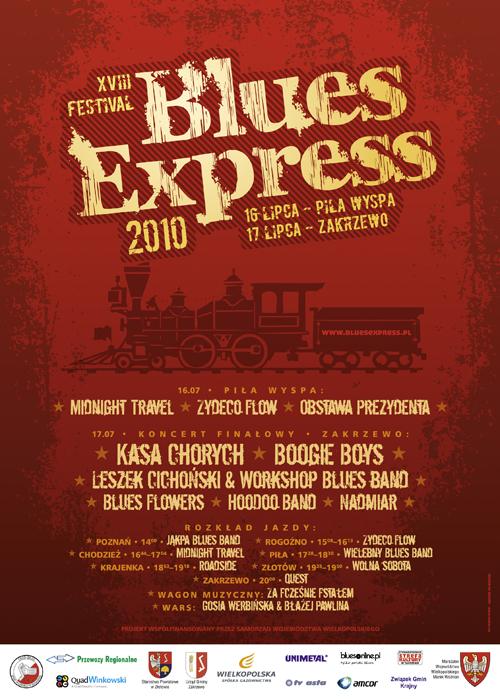 Oficjalny plakat Festiwalu Blues Express 2010
