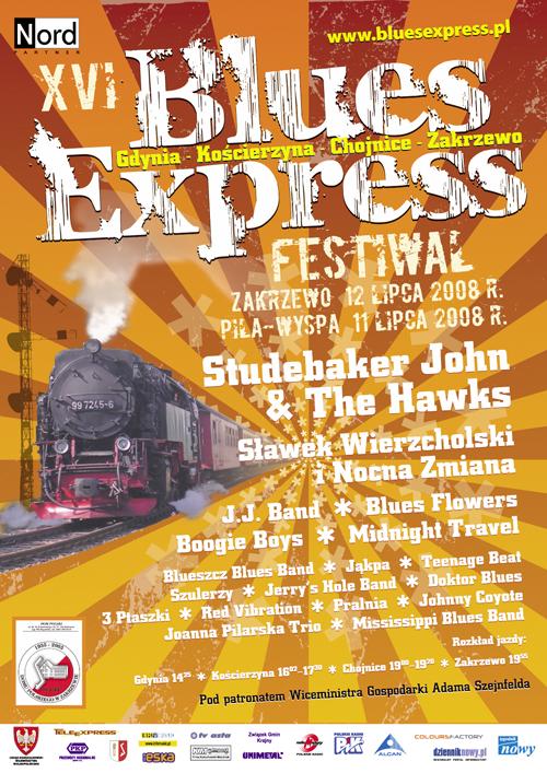Oficjalny plakat Festiwalu Blues Express 2008