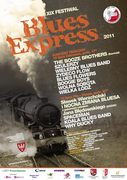Oficjalny plakat Festiwalu Blues Express 2011