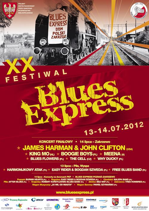 Oficjalny plakat Festiwalu Blues Express 2012