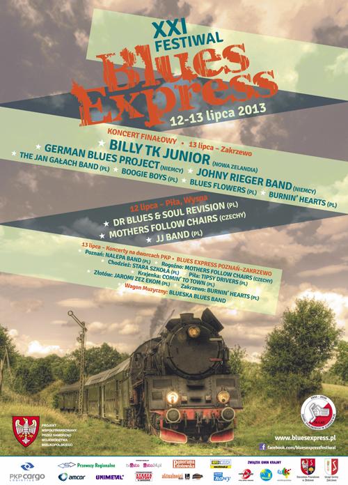 Oficjalny plakat Festiwalu Blues Express 2013