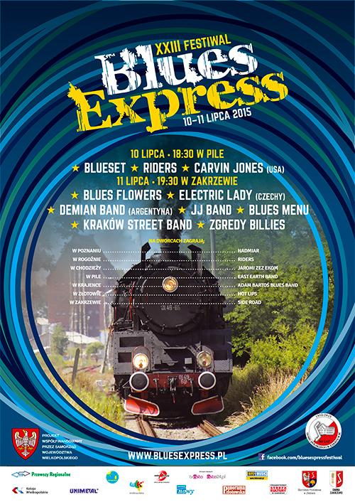 Oficjalny plakat Festiwalu Blues Express 2014