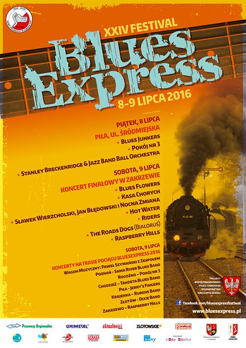 Oficjalny plakat festiwalu Blues Express 2016