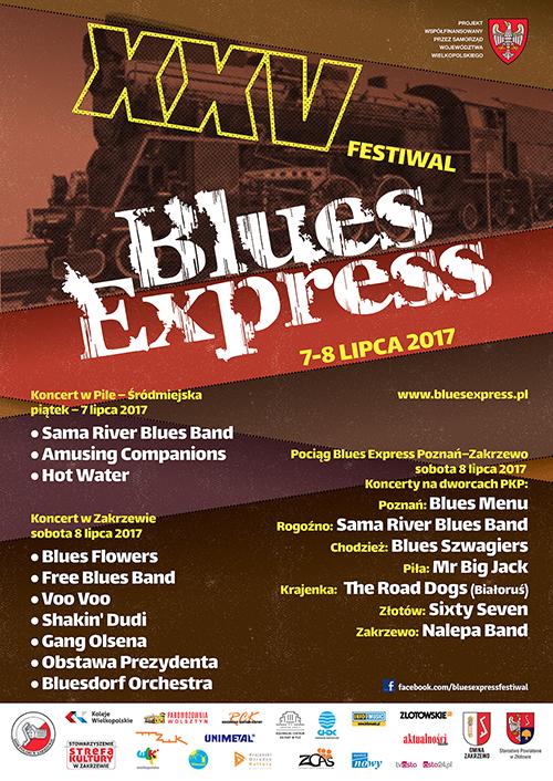 Oficjalny plakat festiwalu Blues Express 2017