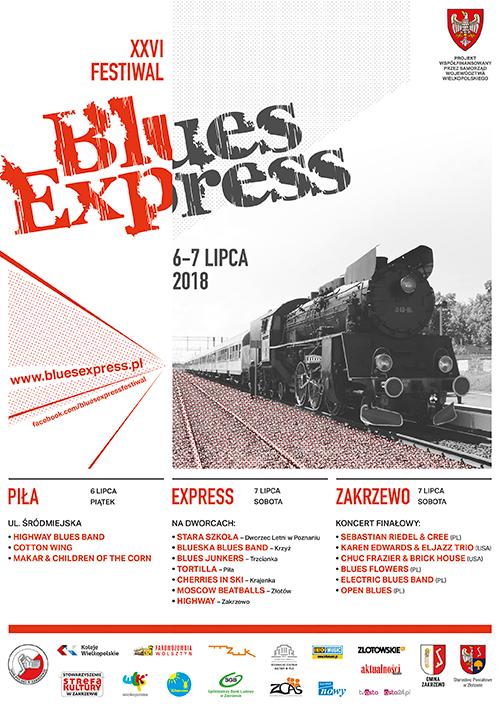 Oficjalny plakat festiwalu Blues Express 2018